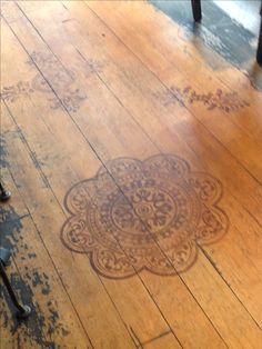 Stenciling on wood floor - doing this to the cabin porch