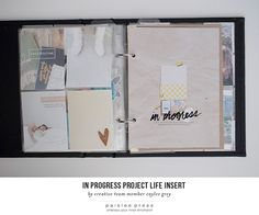 project life insert by ct member Caylee Grey using press plate no. 40 by paislee press
