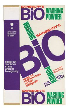 Sainbury's own label packaging design from the 1960's/70's.