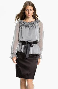 Adrianna Papell Stretch Charmeuse Pencil Skirt available at #Nordstrom