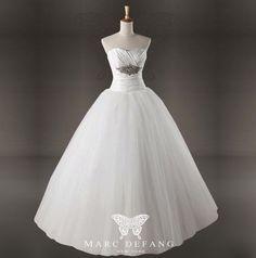 Art no BG1040 Empire Crystals ALine Luxury Bridal Wedding by MDNY, $299.00