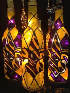 Eye of the Tiger Fleur De Lis Bottle of Lights
