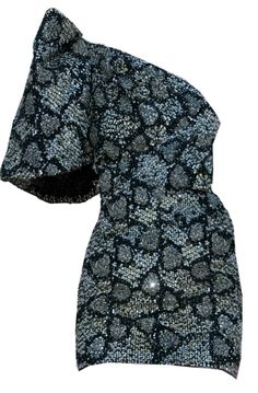 Saint Laurent Lizard Embellished Dress.