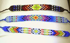 Beaded Bracelet Patterns, Beaded Bracelets, Beadwork, Beading, Friendship Bracelets, Loom, How To Make, Painting, Jewelry