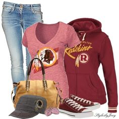 """Washington Redskins"" by stylesbyjoey on Polyvore"