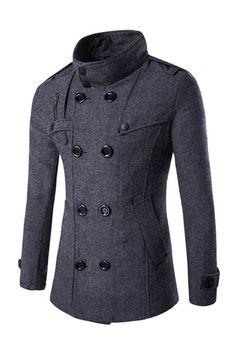 Double Breasted Zipper Coat