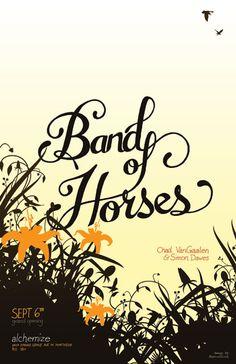 Band of Horses - Cincinnati Gig Poster
