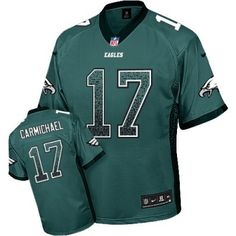 b18d87070d0 (Philadelphia Eagles Harold Carmichael Limited Nike Men's Midnight Green  Jersey) NFL #17 Drift