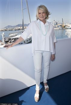 Making the best of it: Martha Stewart revealed she spent her time in prison making a ceramic nativity scene and crab apple jam during an intimate chat with DailyMail.com at Cannes Lions on Thursday