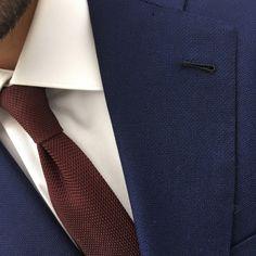 L.H. Bespoke 1948 Jacket and Grenadine tie ¨Sprezza¨  Spain.  #Seville #spain #sprezza #bespoke #grenadine #tie #menswear #jacket #hopsack #vitalebarberis #fullcanvas #buttonhole #luisherrera
