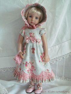 13  Effner Little Darling BJD fashion pink & blue Regency OOAK handmade by JEC