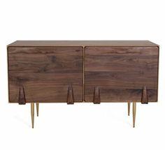 Organic Modernism Miami 2, brass legs 50 w x 18 d x 30 h $1185