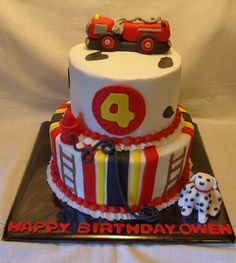 tiered firetruck cake - Google Search
