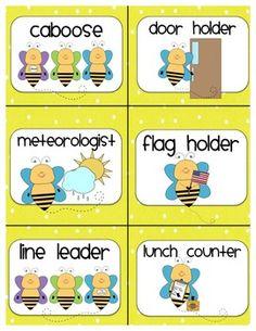 Classroom Job Chart, Classroom Jobs, First Grade Classroom, Kindergarten Classroom, Classroom Organization, Classroom Decor, Classroom Labels, Classroom Design, Future Classroom