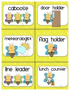 Bee Themed Classroom Set Posters Signs And Other Materials