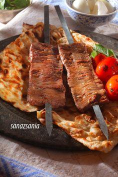 Iran is the land of kebabs :) kebab barg کباب برگ Kabob Recipes, Dessert Recipes, Desserts, Persian Kabob Recipe, Iran Food, Middle Eastern Dishes, Good Food, Yummy Food, Kitchens