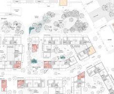 Architecturestudio NOAN Wins International Competition for Viinikanlahti Masterplan in Tampere Finland - 谷德设计网 Brick Architecture, Pedestrian Bridge, Brick Building, Master Plan, Plan Design, How To Level Ground, Finland, Landscape Design, Floor Plans