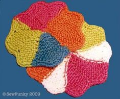 Sew Funky · Cloth of the month | February 2009. Most dishcloths are HUGE.