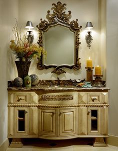 Designed and Constructed by Fratantoni Luxury Estates - mediterranean - bathroom - phoenix - by Fratantoni Luxury Estates Mediterranean Bathroom, Mediterranean Home Decor, Tuscan Decorating, Interior Decorating, Interior Design, Fall Decorating, Dream Bathrooms, Beautiful Bathrooms, Luxurious Bathrooms