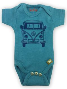 Sasha Baby Onesie  Indigo VW Bus by Sashapotamus on Etsy, $12.00