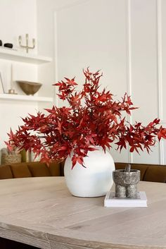 Bring in the look of fall without the fuss. These artificial fall leaves are the perfect finishing touch to your fall home decor. Plop these artificial Japanese red maple leaves in an oversized vase for an instant fall refresh. Shop this look at Afloral.com. Image by @jaci.daily. Fake Hydrangeas, Hydrangea Flower, Leaf Flowers, Fake Flowers, Dried Flowers, Fall Home Decor, Autumn Home, Warm Autumn, Holiday Decor