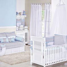 Quarto para Bebê Baby Chevron Azul | Grão de Gente