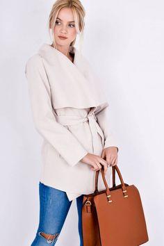 Elegantný béžový dámsky kabát - Rouzit.sk Bell Sleeves, Bell Sleeve Top, Tops, Women, Fashion, Moda, Women's, La Mode, Shell Tops