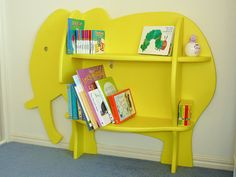 Another cute, but impossible to actually order, elephant bookcase...