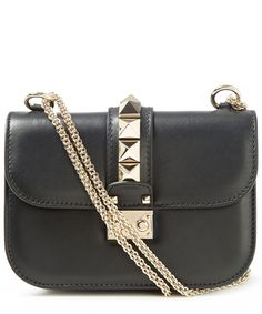 Valentino Small Black Rockstud Shoulder Bag | Accessories | Liberty.co.uk