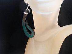 Polymer Clay earrings Green earrings Trendy earrings Modern earrings Stylish earrings Unusual earrings Original earrings Fashion earrings