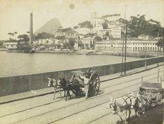 Largo da Glória e Praia do Russel vendo-se o antigo mercado Augusto Malta 1905 Fundação Biblioteca Nacional, Rio de Janeiro