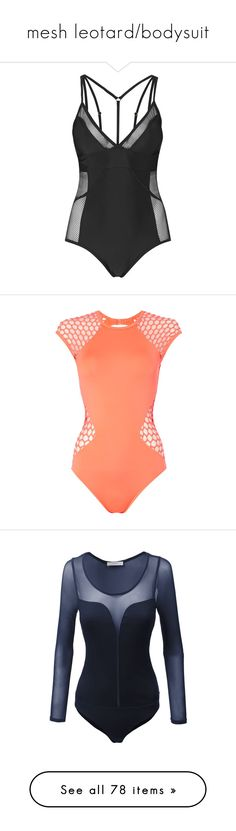 """""""mesh leotard/bodysuit"""" by lulucosby ❤ liked on Polyvore featuring swimwear, one-piece swimsuits, bodysuit, intimates, topshop, black, mesh one piece swimsuit, sporty bathing suits, topshop swimwear and topshop bathing suits"""