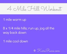 Hill Workout #fitness #running #fitfluential