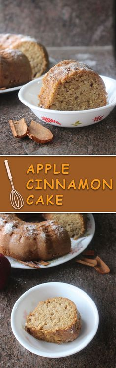 apple cinnamon cake - a super easy soft melt-in-mouth cake perfect for snacking! A great summer dessert for get togethers & even better for when the weather gets colder!