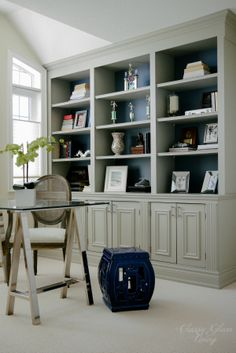 Completed View | DIY Built-in Office Cabinet | Classy Glam Living