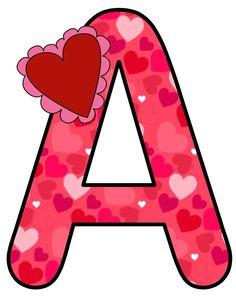 ❤️ Alphabet For Kids, Alphabet Print, Alphabet And Numbers, Alternative Disney Princesses, Alphabet Pictures, Christmas Alphabet, Large Letters, Valentine Decorations, Baby Design