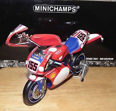 minichamps 112 ducati 996 r ben bostrom wsb 2001 155 superbike 1220011255 - Categoria: Avisos Clasificados Gratis  Item Condition: NewHere is a Minichamps 112 Ducati 996 R Ben Bostrom #155 WSB 2001 for sellThe model is in perfect condition and in mint box The serial number is 122011255 One of the model from Minichamps's superbike model series and as usual, the model is in highly detailed with precised small parts The model with the livery of the Oschersleben race has detachable side panels…