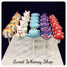 alice in wonderland cake pops