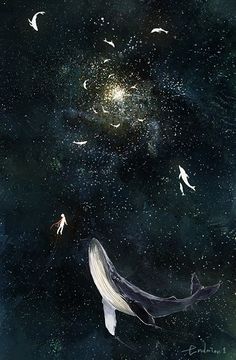 Wallpaper Animes, Wallpaper Backgrounds, Space Whale, Foto Top, Whale Art, Wale, Delphine, Pretty Art, Aesthetic Art