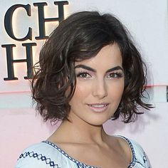 Vital Attraction - Just Cut The Darn Thing! | Sam Villa Blog Bob Haircut For Round Face, Round Face Haircuts, Short Wavy Hair, Short Hair Cuts For Women, Curly Bob, 2015 Hairstyles, Elegant Hairstyles, Popular Hairstyles, Female Hairstyles