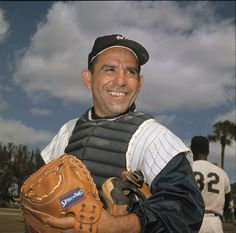 "Baseball Hall of Famer Lawrence Peter ""Yogi"" Berra — widely considered one of the greatest catchers to play the game — died Tuesday night. He was 90. Born May 12, 1925, Berra played his 19-year entire career for the New York Yankees, and was elected to the Baseball Hall of Fame in 1972. He died 69 years to the day of his MLB debut: Sept. 22, 1946.………………..For more classic 60's and 70's pics please visit and like my Facebook Page at https://www.facebook.com/pages/Roberts-World/143408802354196"