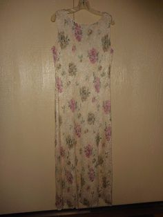 a2d076617ef7 Ronni Nicole beige Lace rose floral dress long length size 12 EUC Summer   RonniNicole Ladies