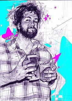 Desenhos FreeStyle à lápis por Gwaja Ji  + http://www.behance.net/gwaja