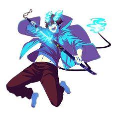 Rin Okumura Ao No Exorcist, Blue Exorcist Anime, Hot Anime Boy, Anime Boys, Blade & Soul, Manga Art, Anime Art, Super Manga, Yukio Okumura