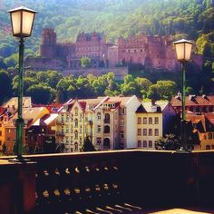 A picturesque view of Heidelberg, #Germany. While you're in Germany, why not spend a night in a castle? Photo courtesy of bumbyfoto on Instagram.