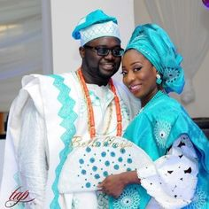 Beautiful couple, beautiful outfits //From Bella Naija Weddings