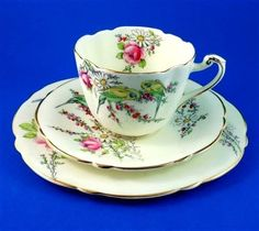 Commemorate Birth of Princess Margaret Rose 1930 Paragon Tea Cup, Saucer & Plate