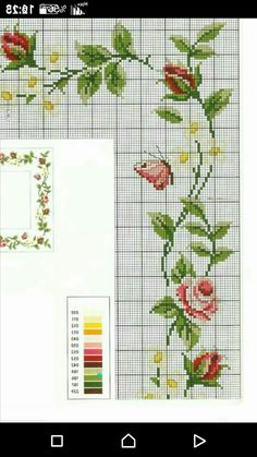 Cross Stitch Borders, Cross Stitch Patterns, Cross Stitch Embroidery, Applique, Projects To Try, Butterfly, Knitting, Crochet, Floral
