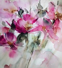Watercolor Poppies, Watercolor Artists, Abstract Watercolor, Watercolour Painting, Abstract Flowers, Flower Art, Wallpaper, Paintings, Watercolor Techniques