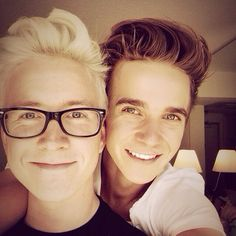 Tyler Oakley and Joe Sugg // love them both